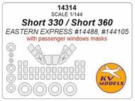 KV Models  1/144 Short 330/Short 360 + passenger windows + wheels masks KV14314