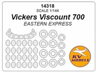 KV Models  1/144 Vickers Viscount 700 + wheels masks KV14318