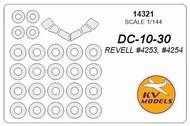 KV Models  1/144 McDonnell-Douglas DC-10-30 canopy paint mask AND wheel paint mask masks KV14321