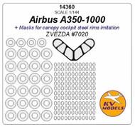 KV Models  1/144 Airbus A350-1000 + wheels masks KV14360