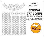 KV Models  1/144 Boeing 777-300ER Masks KV14361