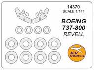 KV Models  1/144 Boeing 737-800 canopy paint mask AND wheel paint mask masks KV14370