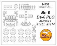 KV Models  1/144 Beriev Be-6 canopy paint mask AND wheel paint mask masks KV14459