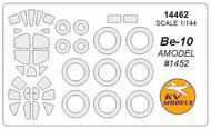 KV Models  1/144 Beriev Be-10 canopy paint mask AND wheel paint mask masks KV14462