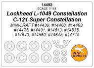 KV Models  1/144 Lockheed L-1049 Constellation / C-121 Super Constellation + masks for wheels KV14492