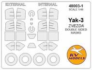 Yakovlev Yak-3 - Double-sided masks + wheels masks #KV48003-1