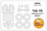 Yakovlev Yak-1B + wheels masks #KV48004