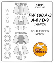 Focke-Wulf Fw.190 - Double-sided masks + wheels masks #KV48011