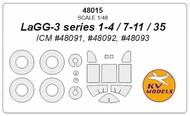 Lavochkin LaGG-3 + wheels masks #KV48015