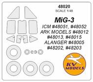 Mikoyan MiG-3 + wheels masks #KV48020