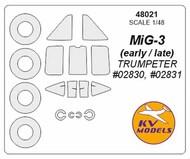 Mikoyan MiG-3 + wheels masks #KV48021