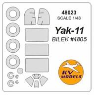 Yakovlev Yak-11 + wheels masks #KV48023