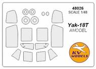 Yakovlev Yak-18T + wheels masks #KV48026