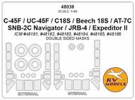 Beechcraft C-45F / UC-45F / C18S / Beech 18S / AT-7C / SNB-2C Navigator / JRB-4 / Expeditor II #KV48038