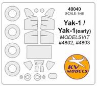Yakovlev Yak-1 + wheels masks #KV48040