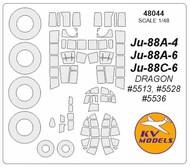Junkers Ju.88 + wheels masks #KV48044