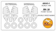 Yakovlev Yak-38 / YaK-38M - Double-sided masks + wheels masks #KV48045-1