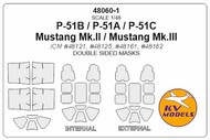 North-American P-51 Mustang - Double-sided masks #KV48060-1