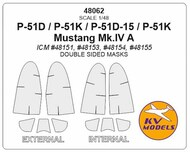 North-American P-51 Mustang - Double-sided masks #KV48062