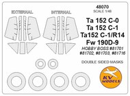 e-Wulf Ta.152 Double sided and wheels masks #KV48070