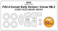 Vought F4U-4 Corsair Early Version / Corsair Mk.2 + wheels masks #KV48099