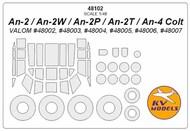 Antonov An-2 + wheels masks #KV48102