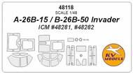Douglas A-26 / B-26 Invader + wheels masks #KV48118