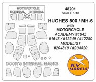 HUGHES 500 / MH-6 with MOTORCYCLE + wheels masks #KV48201