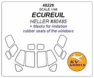 AS-350 Ecureuil (designed to be used with HELLER kit HE80485) Masks #KV48229