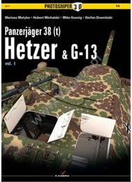 Kagero Books   N/A Collection - Photosniper 3D: Panzerjager 38(t) Hetzer & G13 Vol.I KAG14
