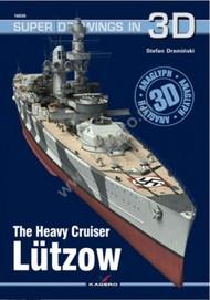 Kagero Books   N/A Super Drawings 3D: Heavy Cruiser Lutzow KAG16030