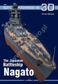 Kagero Books   N/A Super Drawings 3D: Japanese Battleship Nagato KAG16051