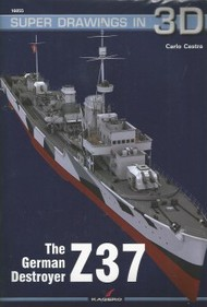 Kagero Books   N/A Super Drawings 3D: German Destroyer Z-37 KAG16055