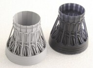 F-15C/D/E/K P&W Exhaust Nozzle Closed Set for ACY/RMX/LNR (3D Printed Resin) #KAOMA48032