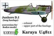 Junkers D.I long fuselage - resin conversion #KARU48011