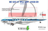Douglas DC-3 Polish LOT (very limited Roden kit with new decals) #KY14410