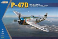 Kinetic Models  1/24 Republic P-47D Thunderbolt Bubble top (This is 1:24) KIN24007
