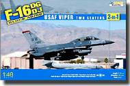 Kinetic Models  1/48 F-16DG/DJ Block 40/50 USAF Viper Two-Seater Fighting Falcon (2 in 1) KIN48005