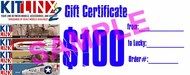Kitlinx   N/A Kitlinx $100 Gift Certificate KX100GIFT