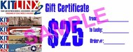 Kitlinx   N/A Kitlinx $25 Gift Certificate KX25GIFT