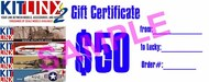 Kitlinx   N/A Kitlinx $50 Gift Certificate KX50GIFT