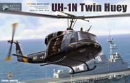 Kitty Hawk Models  1/48 UH-1N Twin Huey Helicopter w/3 Figures KTY80158