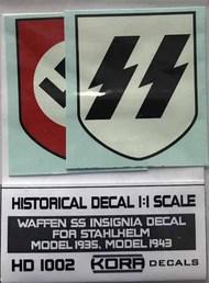 Kora Models  1/1 Decal Waffen SS Insignia (1935, 1943) KORAHD1002