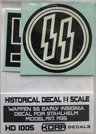 Kora Models  1/1 Decal Waffen SS early Insignia (1917,1935) KORAHD1005