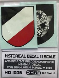 Kora Models  1/1 Decal Wehrm.Feldgendarm. Insignia (1935, 1943) KORAHD1006