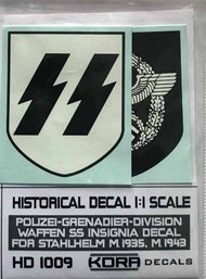 Kora Models  1/1 Decal Polizei-Grenad.Div.Insignia (1935, 1943) KORAHD1009