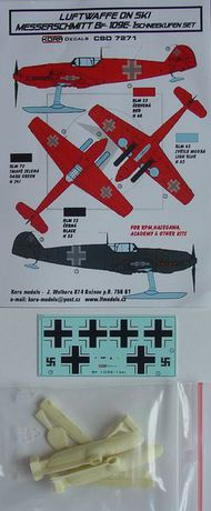 Messerschmitt Bf.109E Ski - Conversion set & decal (designed to be used with Academy, Hasegawa and RPM kits) #KORCSD7271