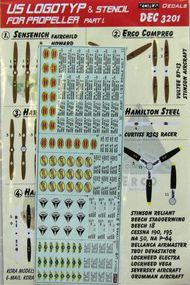 Kora Models  1/32 U.S. WWII propeller manufacturer logo's and stencils (Part I.) Sensenich; Erco Compreq; Hamilton Steel; KORD3201