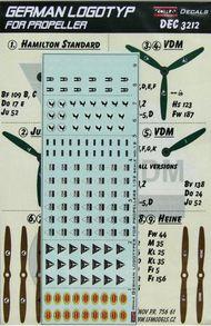 Kora Models  1/32 German WWII propeller manufacturer logo's KORD3212