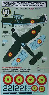 Henschel Hs.126A-1 'Superpava' in Spain Vol.2 #KORD72376